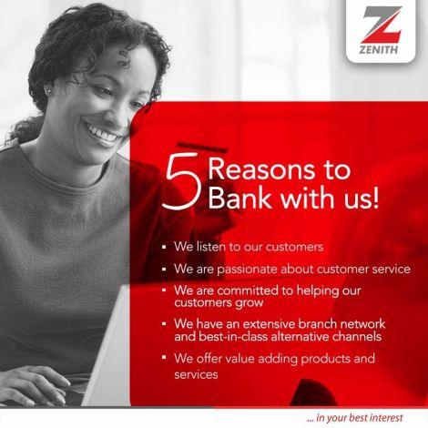 Open Zenith bank account