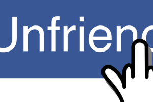 unfriend people on Facebook