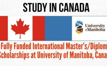 University of Manitoba Master's/Diploma Scholarships in Canada