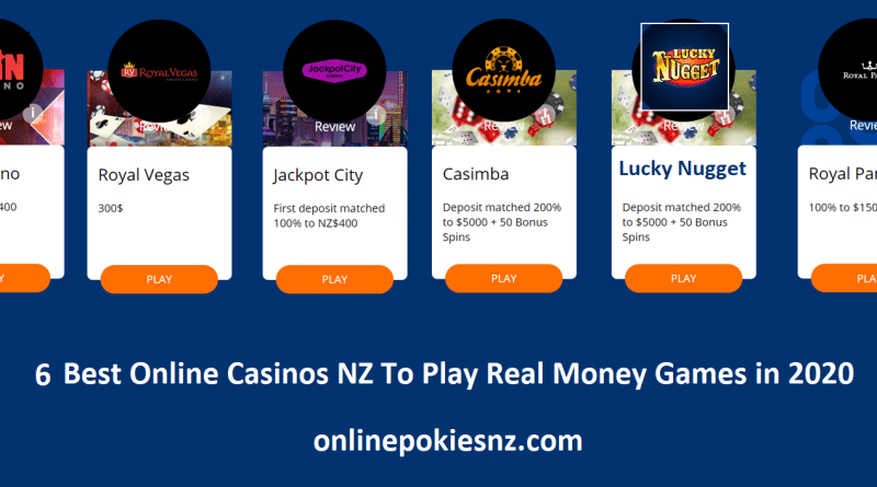6 best online casinos NZ to play real money games in 2020