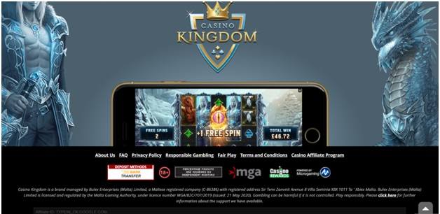 Casino Kingdom NZ Mobile Games