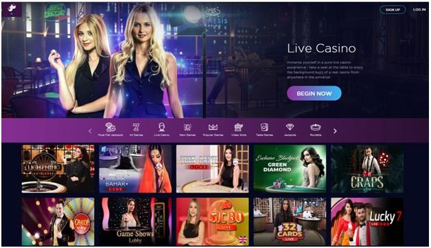 Genesis casino- Live Casino