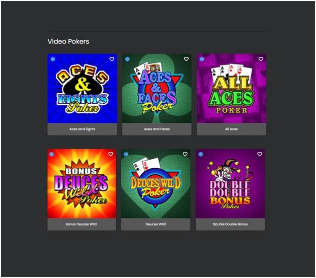 Grand Mondial Casino Video poker games