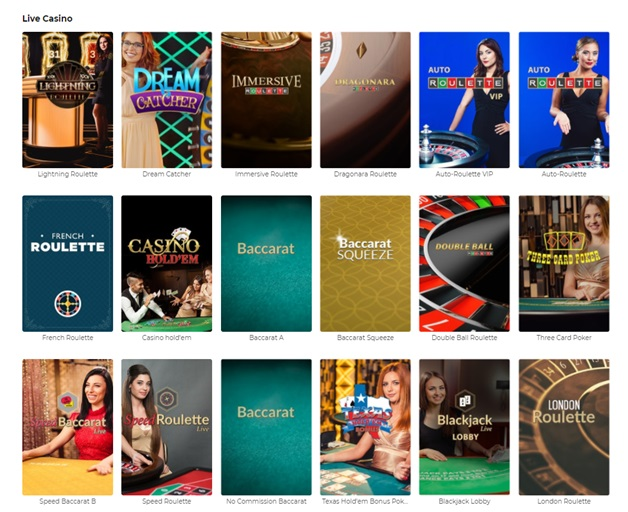 Live casino at SkyCity online casino in New Zealand