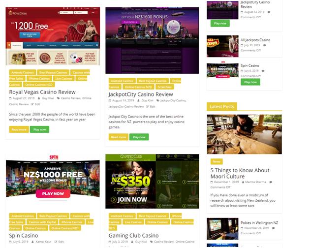 Online casinos NZ- About