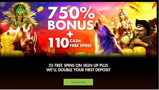 Rich Casino 750% match deposit welcome bonus