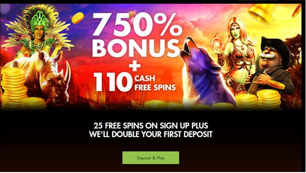 Rich Casino 750% match deposit welcome bonus