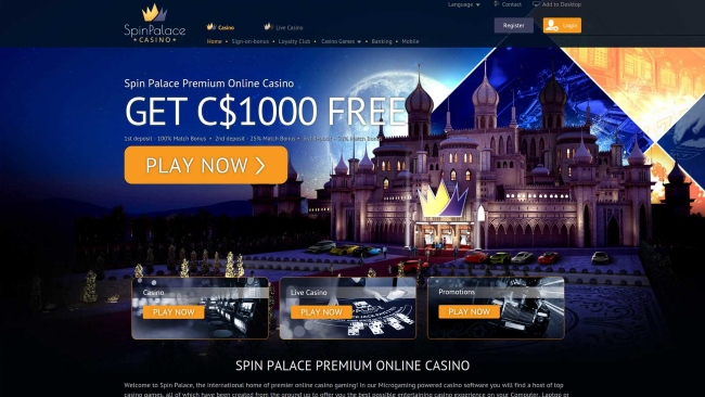 Spin Palace Casino for NZ players