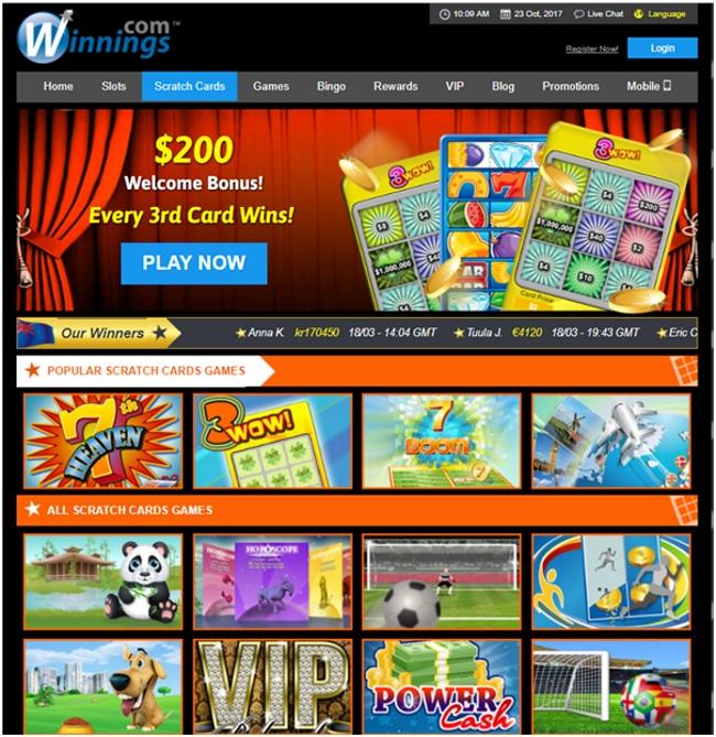 Buy Scratch Cards Online
