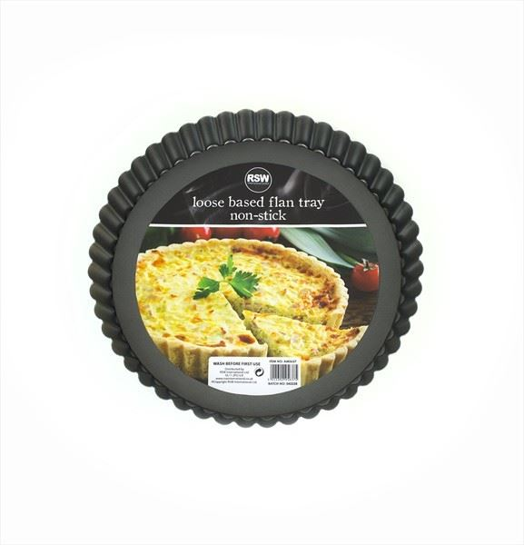 Loose Based Flan Tray non stick baking oven 23cm Cooking