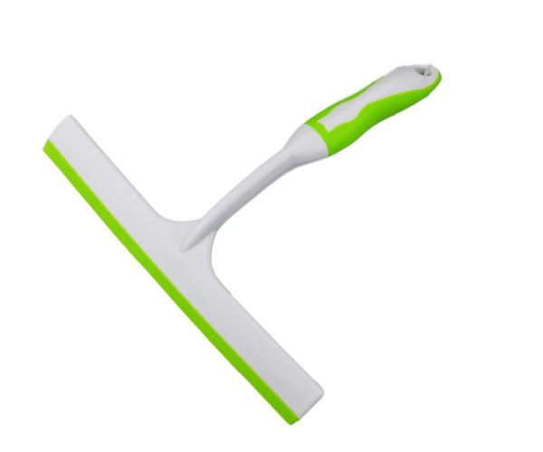 Squeegee Window Wiper Blade with Rubber Hand Grip for Cleaning Windows & Glass
