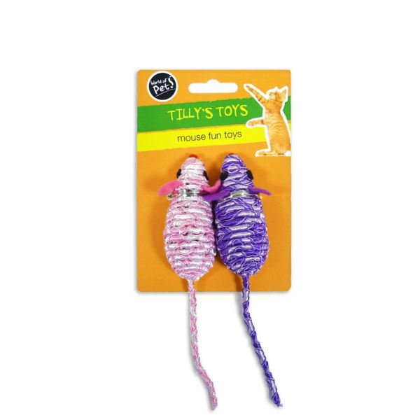 'Tilly's Toys' Mouse Fun Toy Rattle for Cat & Kitten by World of Pets