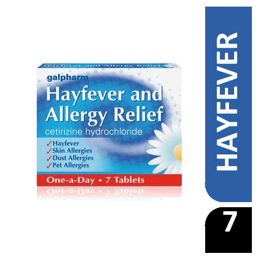 Hayfever And Allergy Relief Cetinzine Hydrochloride 7 Tablets B