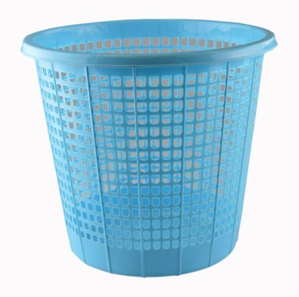 'Brights' Waste Rubbish Bin in Basket Style for Bedroom, Bathroom & Study Office