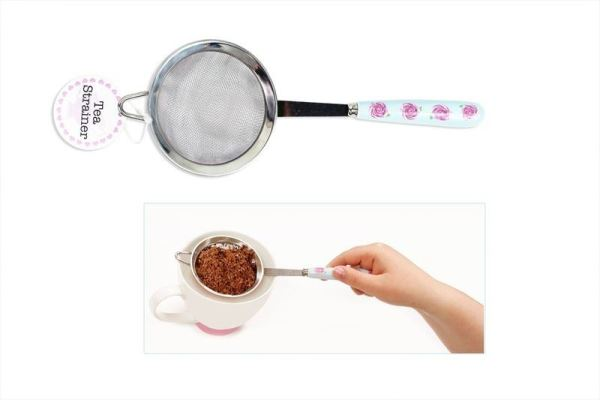 Tea Strainer Afternoon Tea Sieve Tableware Cutlery Stainless Steel Roses