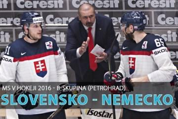 MS v Hokeji 2016: Slovensko vs Nemecko