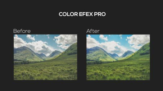 Before and after using the Color Efex Pro tool