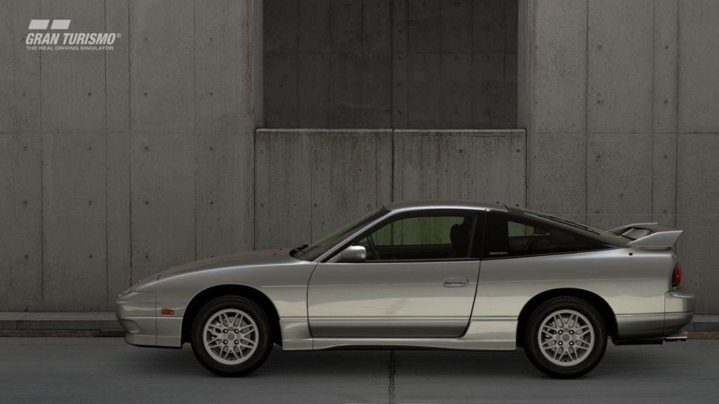 The 1996 Nissan 180SX in Gran Turismo Sport