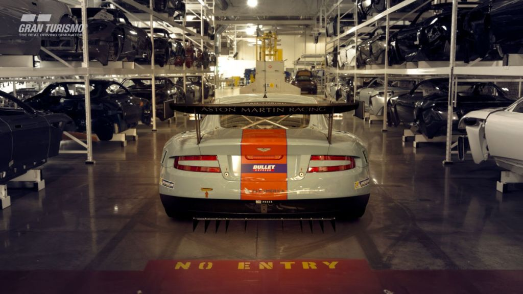 The 2010 Aston Martin DBR9 GT1 in GT Sport