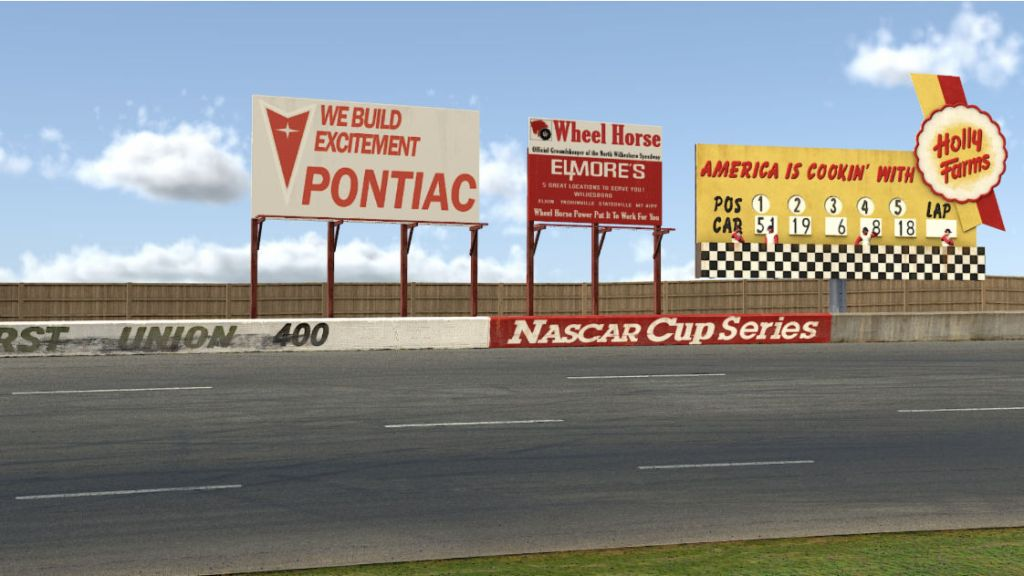 Vintage advertising and trackside scenery has also been recreated...