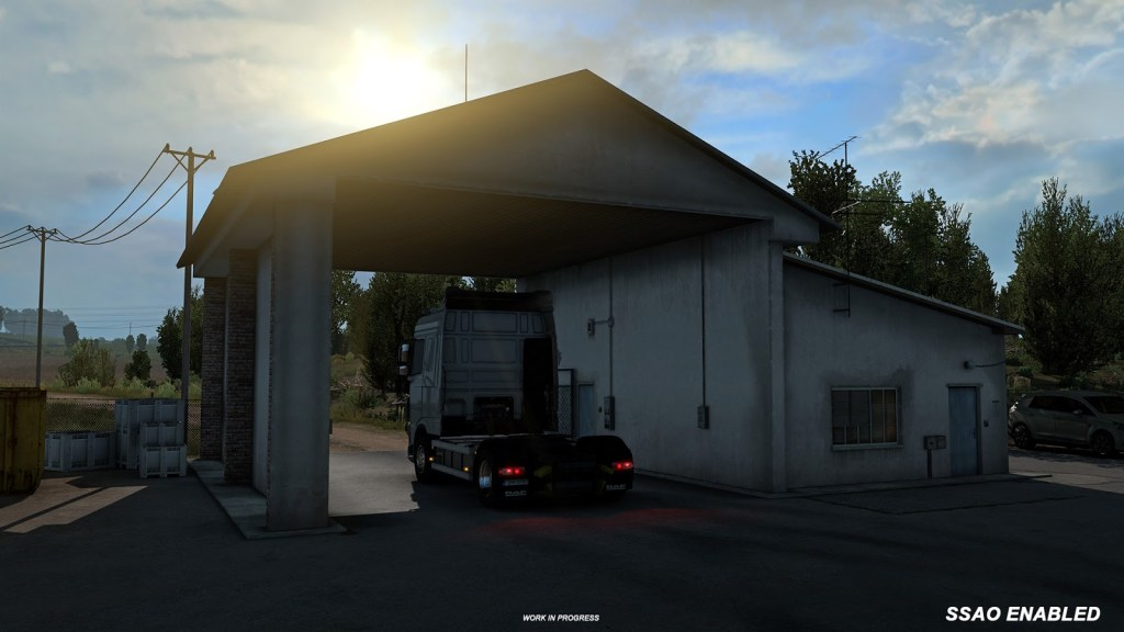 Better handling of shadows has an impact in Euro Truck Simulator Open Beta 1.38
