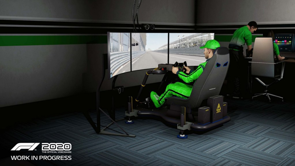 Sim racing driver training with a sim racing game?