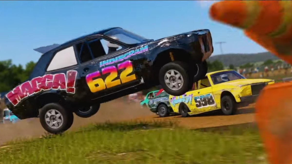 The Wreckfest Banger Racing car pack arrives alongside an update, new tournament season and two new free tracks
