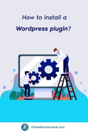 How to install a WordPress plugin_ - Pinterst Image