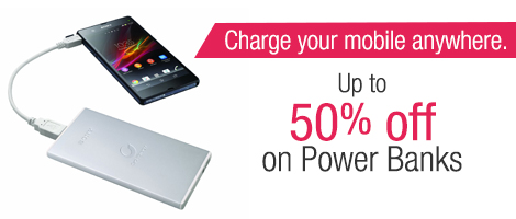 Up to 50% off on Power-Banks