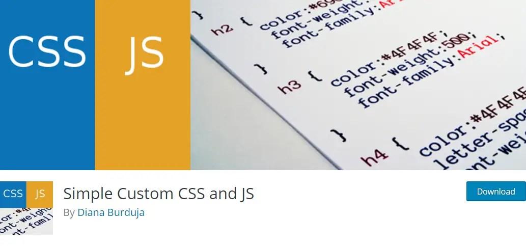 Simple Custom CSS and JS plugin