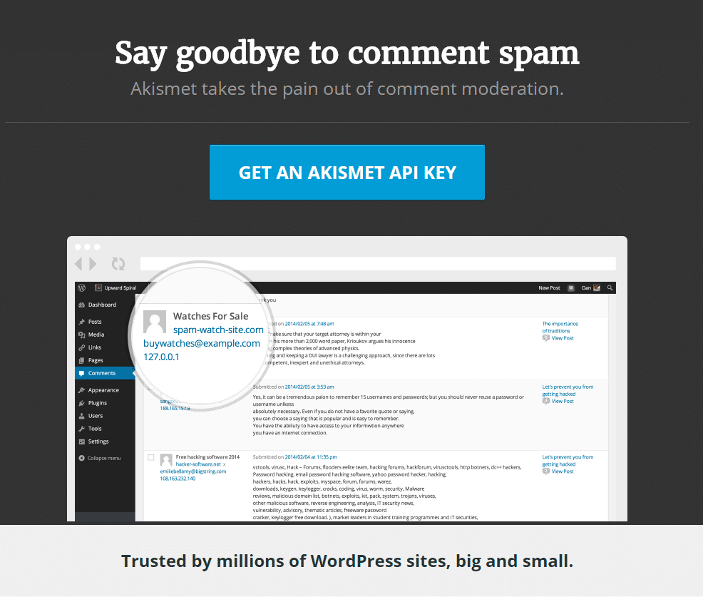 say goodbye to comment spam