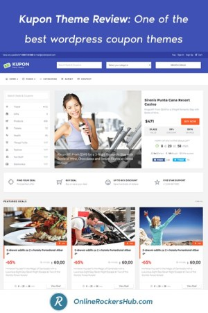 Kupon Theme Review_ One of the best wordpress coupon themes - Pinterest Image
