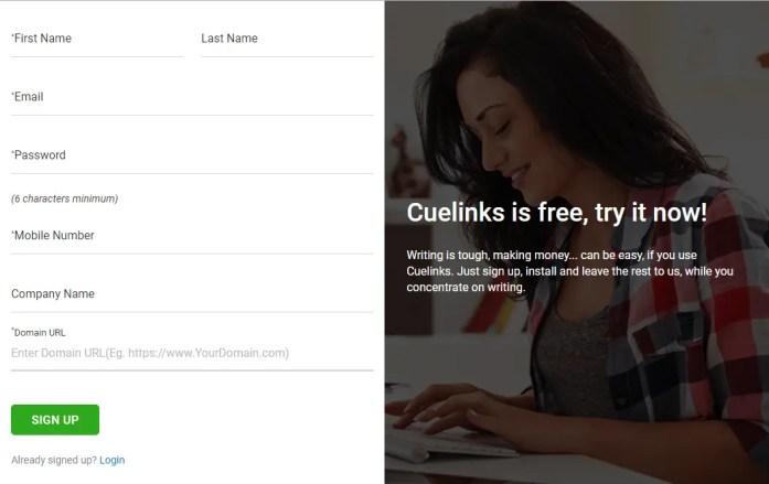 Cuelinks Registration Form