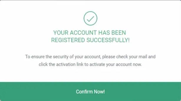 DesignCap Account Registered Successfully