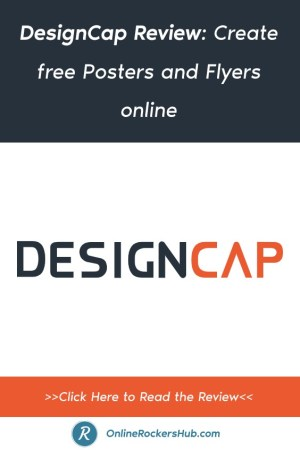 DesignCap Review_ Create free Posters and Flyers online - Pinterest Image