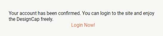 Email Address verified at DesignCap