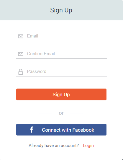 Fill the Signup Form at DesignCap