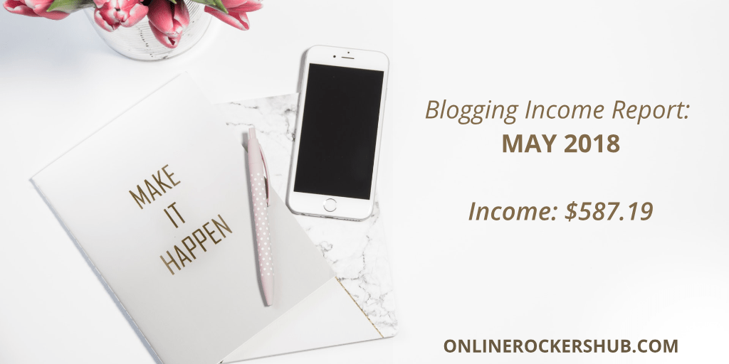 Here is the Blogging Income Report for May 2018 :$587
