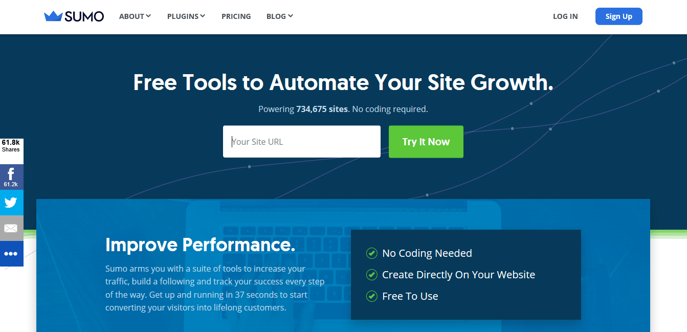 Sumo - The Best website traffic tools