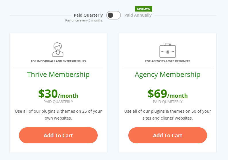Thrive Quarterly membership starts at $30 per month