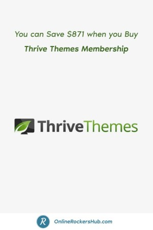 You can Save $871 when you Buy Thrive Themes Membership - Pinterest Image