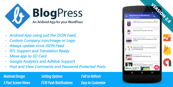 Blogpress - android app for WordPress