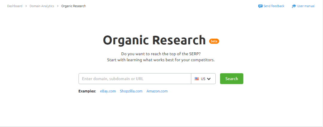 SEMRush organic Research Tool
