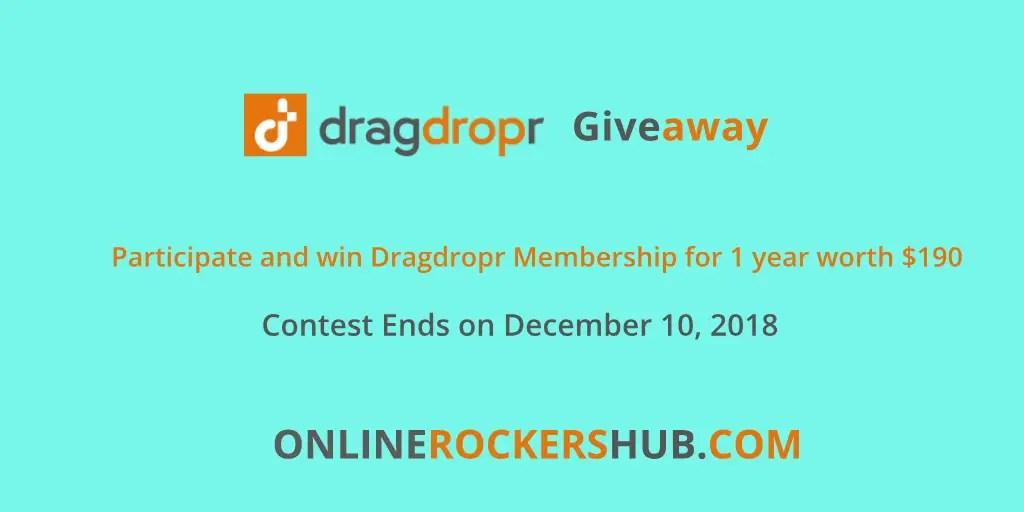 Dragdropr Giveaway