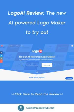LogoAi Review_ The new AI powered Logo Maker to try out - Pinterest Image