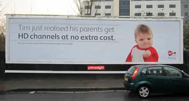 Success Kid for Virgin Media