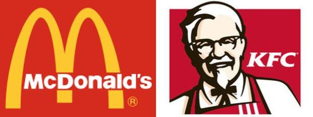 McDonalds and KFC logo