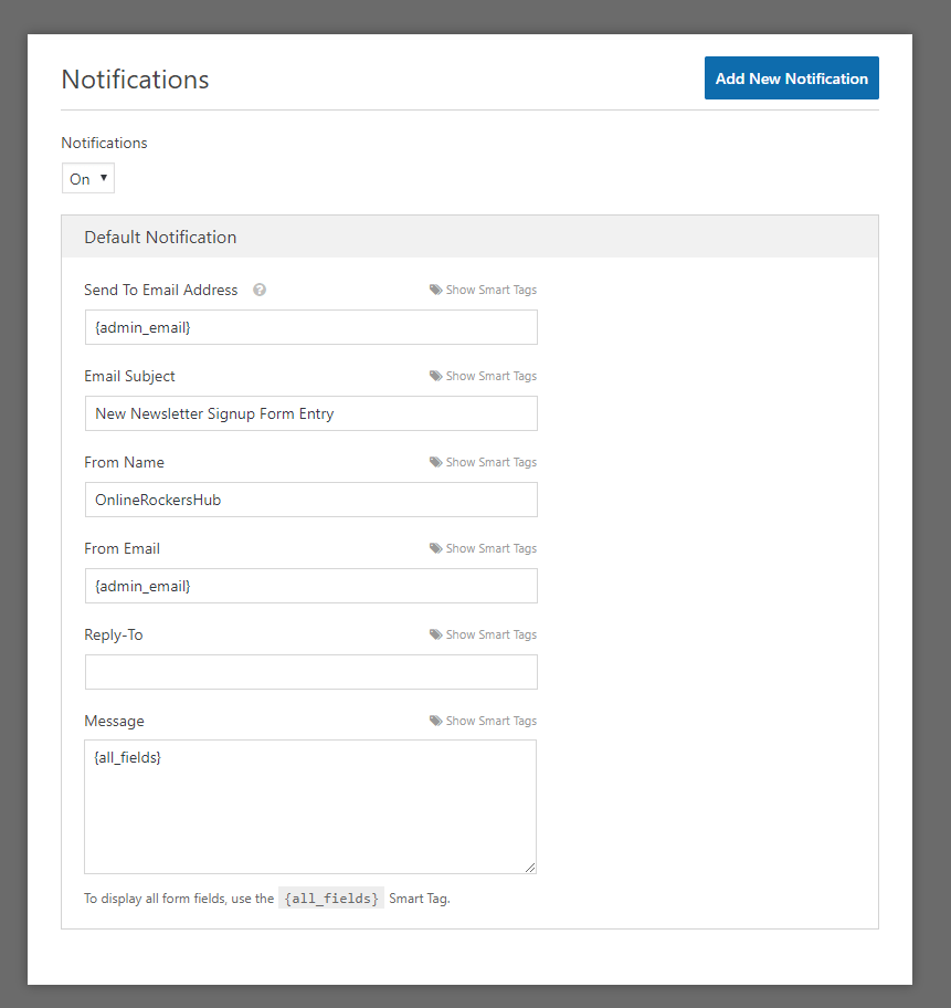 Form entries in WPForms