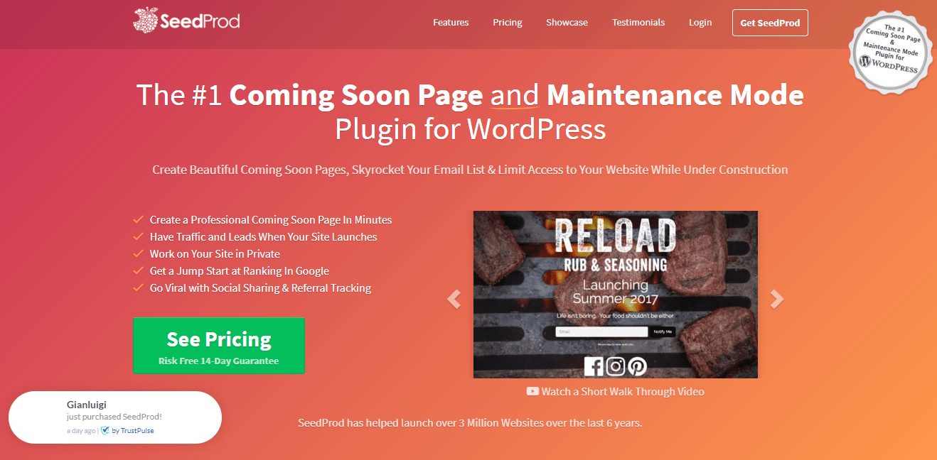 SeedProd - The Number 1 Coming Soon Page and Maintenance Mode Plugin for WordPress