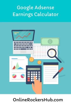 Google Adsense Earnings Calculator - Pinterest Image